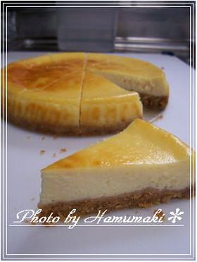 口溶け最高☆簡単濃厚ベイクドチーズケーキ
