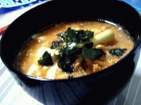 おぼろ豆腐のとろとろキムチスープ