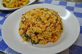 納豆豚キムチ炒飯