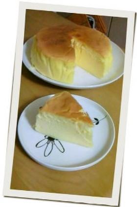 簡単!じゅわ~っとスフレチーズケーキ
