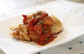 鶏肉のトマトキムチソース
