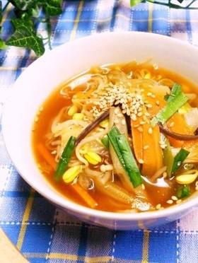 飽きずにスープ生活⑦ 韓国風スープ