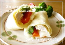 チーズとろけるホット手巻き 野菜&チキン