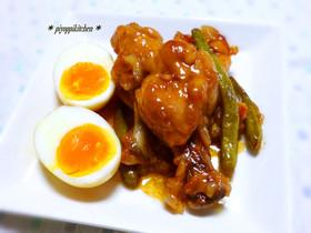 *鶏手羽元と卵のこってりお酢煮*