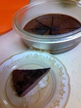 チョコレートケーキ フライパン