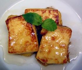 2005年10月12日  高野豆腐 でおやつを作ってみましょう!  高野豆腐 はボールにいれ、50℃くらいのお湯 をたっぷりと注ぎ、2~3分かけて戻す。