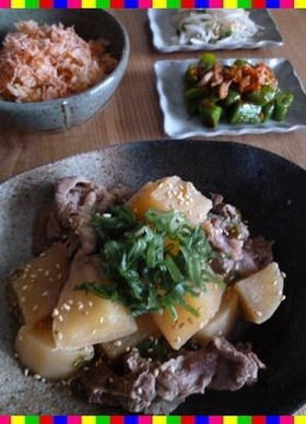 韓国の友人直伝①❀牛肉と大根の煮物