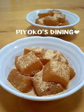 片栗粉で✿和菓子屋さんの本格わらび餅風❤