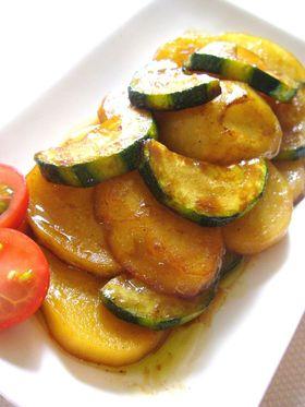 ズッキーニとジャガイモの醤油ドレマリネ
