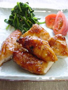 鶏ささみの焼き鳥風。