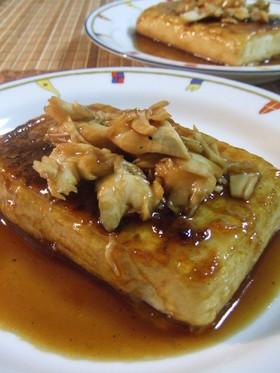 舞茸ソースが絶品☆お豆腐ステーキ