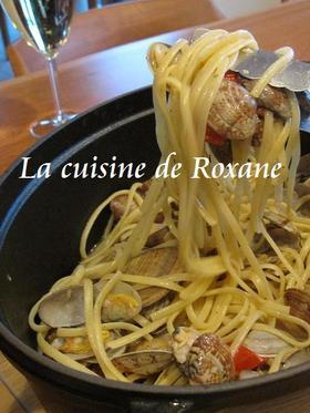 【料理】ニンニクとオリーブオイルとペペロンチーノとアサリのボンゴレパスタ 3